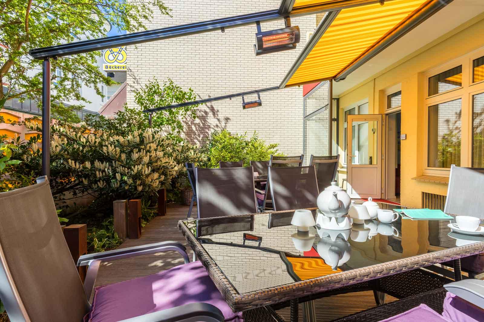 Terrasse Apartment Sonnendeck und Apartment Achterdeck