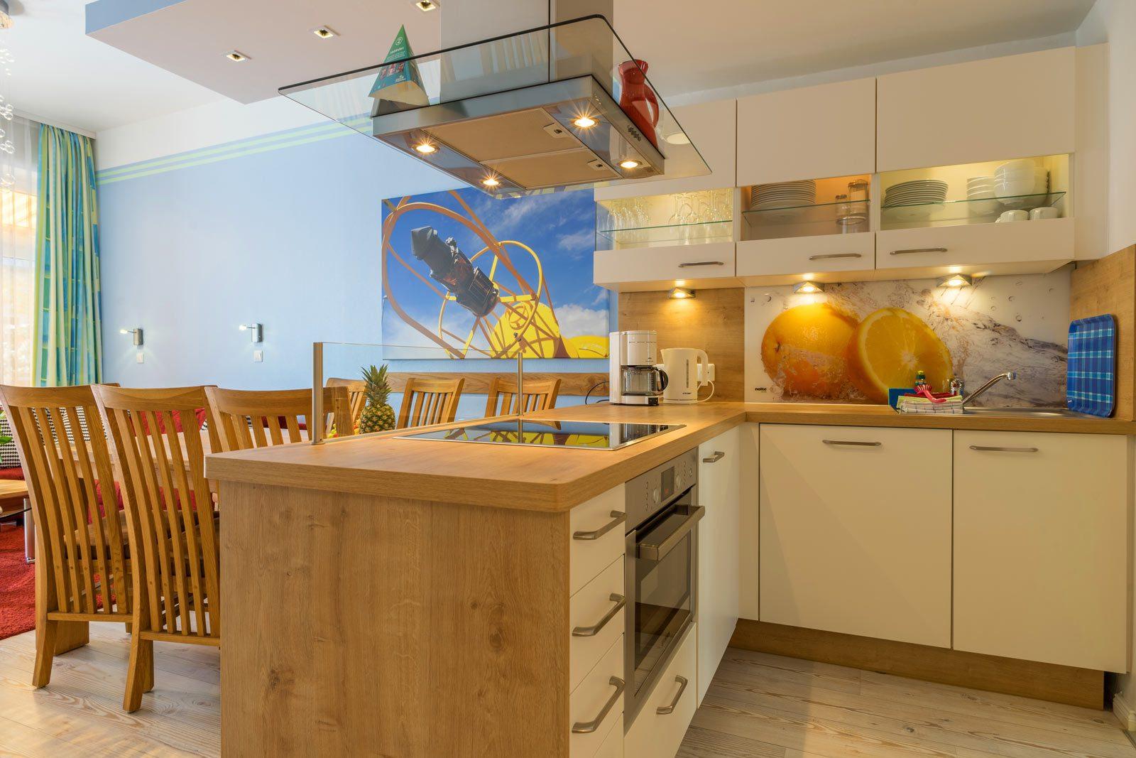 Küche Apartment Sonnendeck mit Esstisch
