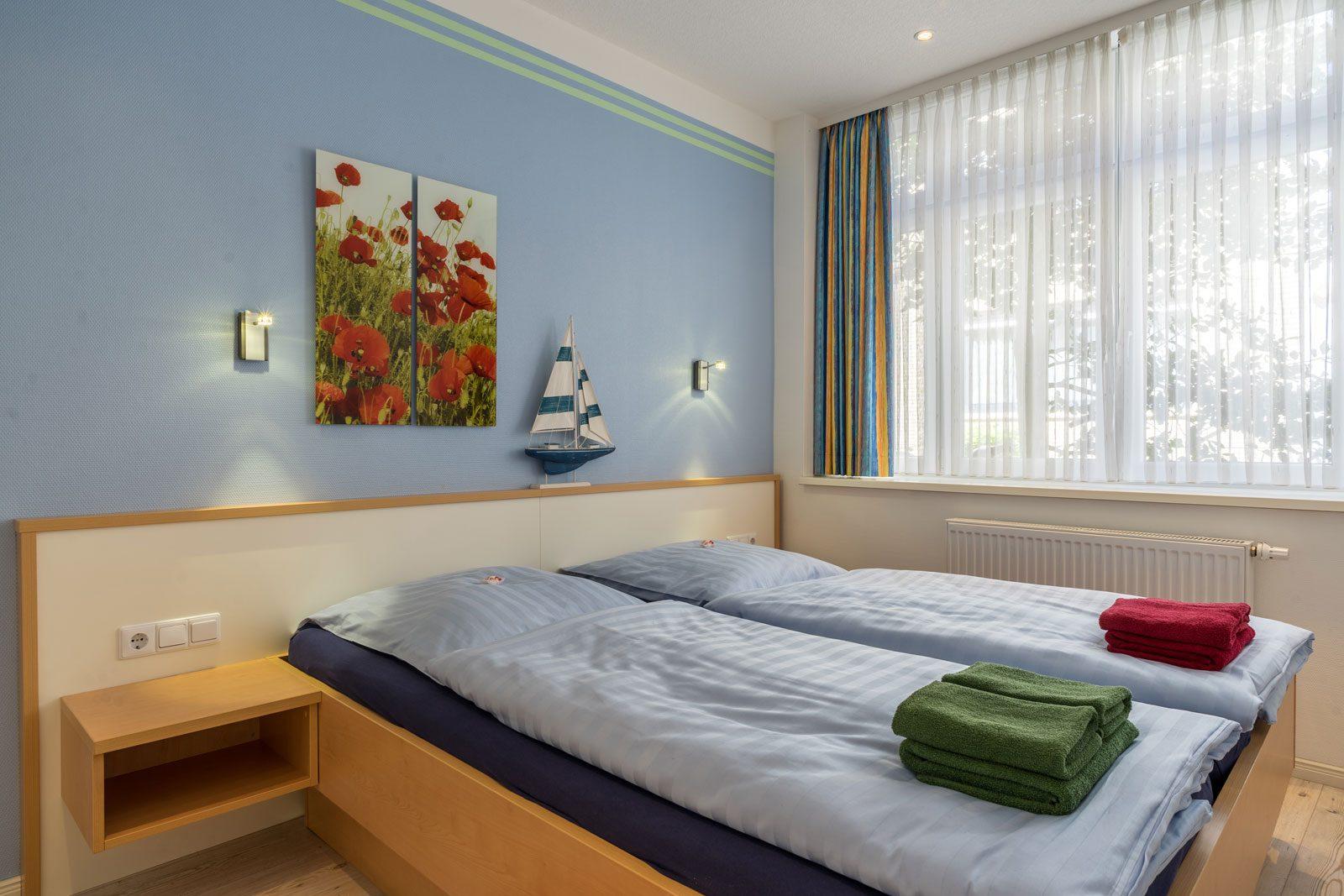 Zweibettzimmer Apartment Achterdeck