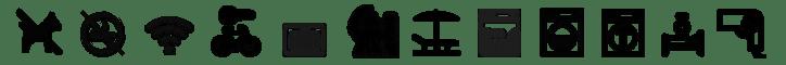 Piktogramme Wohnungsausstattung