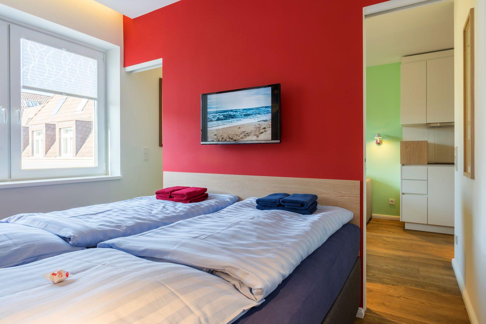 Schlafzimmer Apartment Nautilus