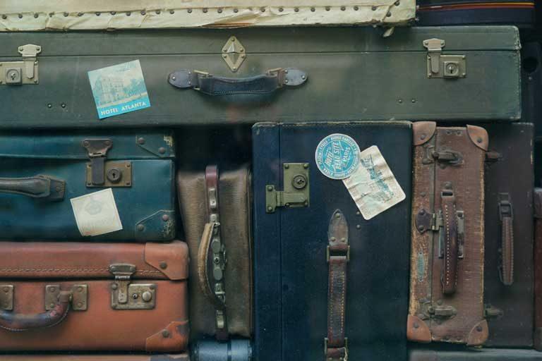 alte Koffer, gestapelt