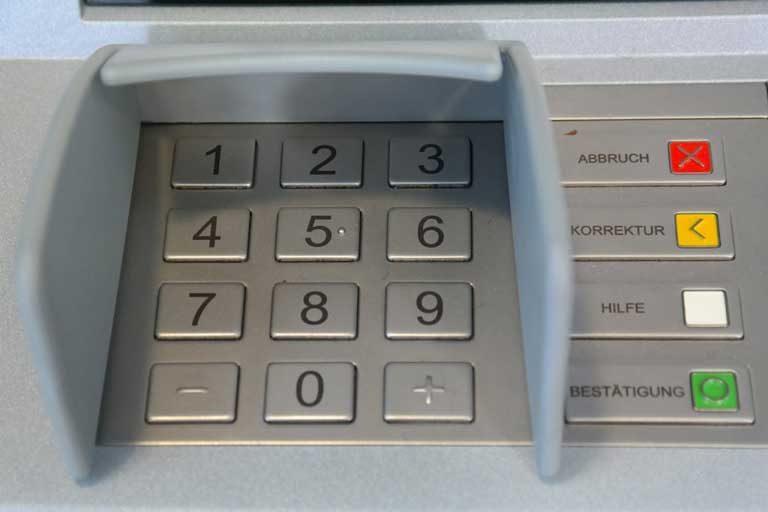 Bankautomat Tastatur